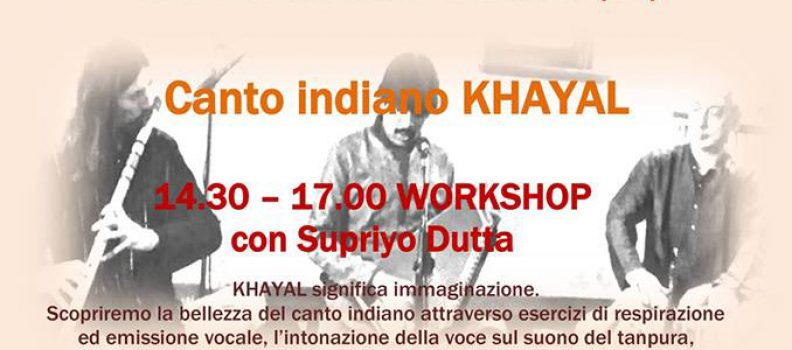 workshop di canto indiano